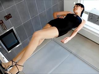 Asian pantyhose legs