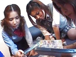 Pretty Asian dolls tease their asses