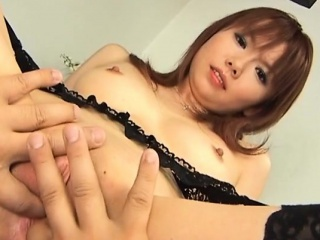 Hot japanese milf gives her lover a vocalized job