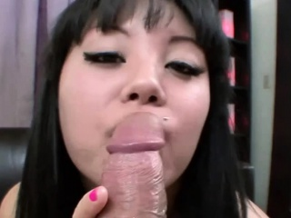 Asian Teen Gets a Huge Saddle with of Facial