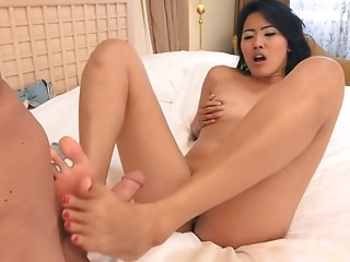 A gorgeous Asian with Sexy feet. AC