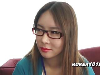 KOREA1818.COM - Korean Lady in Pomp Glasses
