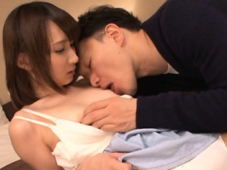 Babe from japan with great body is having sex with sexy lad