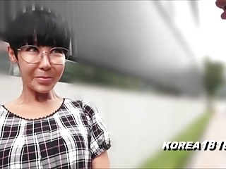 Ugly Korean MILF with Glasses respecting Japan