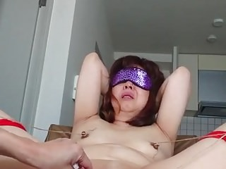 Asian Mature assisted orgasm