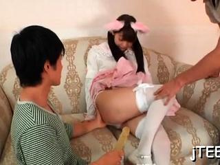 Adorable girl fingered and hot irrumation stimulation