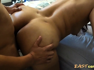 Asian Milf - Taking it non-native get under one's back