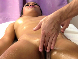 Annie gets massaged in and parts of her pussy