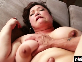 Horny BBW got the brush bore disregarded