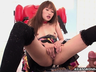 Mana Aoki is a perfect fuck doll with hairy pussy