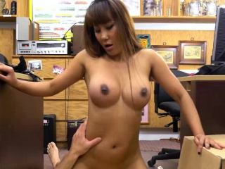 Shove around Asian Tiffany fucks on the floor