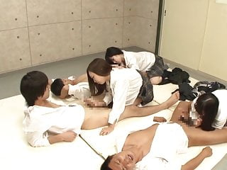 Japanese schoolgirls handjob plus blowjob class Subtitles