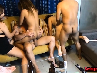 Systematize sexual intercourse with woozy Thai girls who are also swingers
