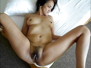 Mature asian Nene, hairy pussy, won't lend deep anal this time