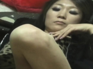 Japanese toddler in panties masturbates