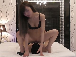 Korean Babe Drag inflate Pallid Dick