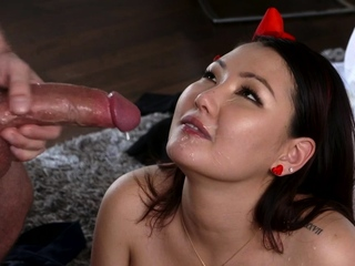 Jade Luv In Crazy Asian Teen Cooch To Big Cock