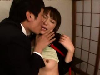 Swingeing japanese mademoiselle Saki Kouzai gets penetrated yawning chasm