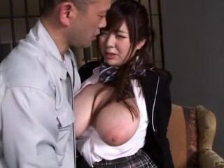 Fetching cutie Ran Niiyama gets rim up back an edge