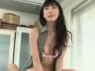 Aroused asian teacher works locate with passion and enthusiasm