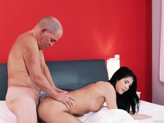 Hot girl tied coupled with fucked Older gentleman coupled with his princess