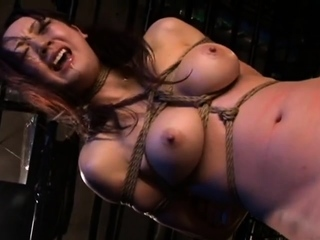 Japanese BDSM Busty slave adjacent to Jail