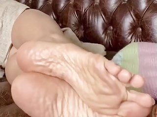 Asian mature trotters soles