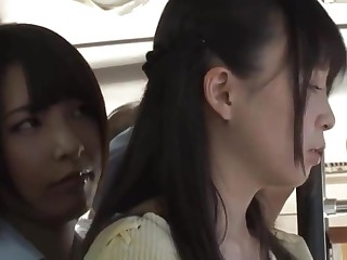 Asian Schoolgirl Lesbian and Teacher on Public Tutor