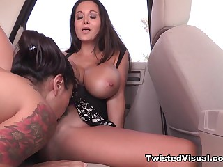 Ava Addams and Dana Vespoli Public Sex away from the Beach - TwistedVisual