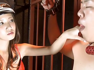 Exotic Japanese chick in Randy Latex, BDSM JAV movie