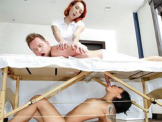 Honey Aureate & Be opposite act for Wylde adjacent to Massage Revenge Fuck - SneakySex