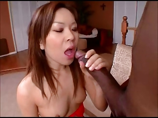 Cute tiny knocker asian takes on BBC