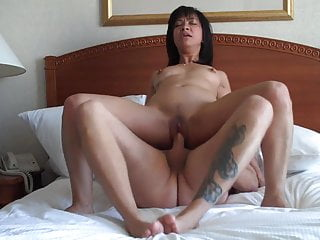 Petite asian fucked hard in inn room