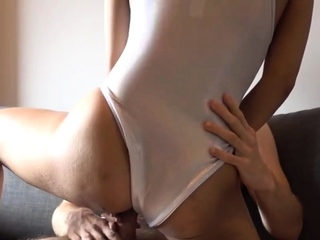 Naughty Asian babe is sitting on sextourist's big cock!