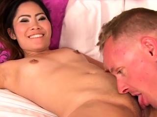 Beguiling oriental gal increased by her wild lust