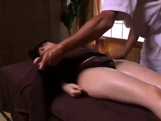 Asian babe hairy pussy massage gangbang