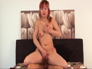 Down in the mouth Asian Stepmom Fucking The brush Lewd Stepson