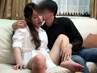 Small titted asian handsomeness giving blowjob