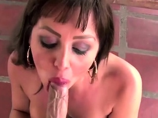 Sexual japanese woman and stud in this video