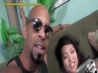 Asian Wife Sucks A Majuscule Black