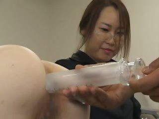 Asian secretary from Tokyo with refer to milk