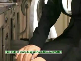 Sora Aoi innocent naughty asian secretary enjoys getting fucked at shy away from discretion