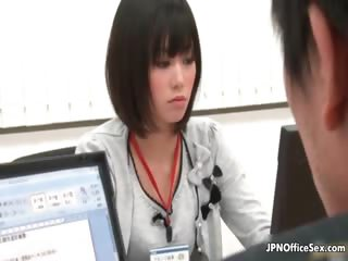Horny boss shacking up an employee close by the part4