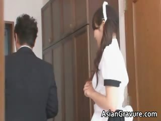 Naughty and sexy asian housewife sucks part3