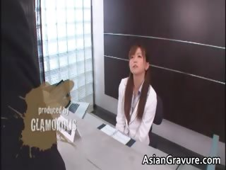Hot and sexy asian secretary blows in a state of collapse part4